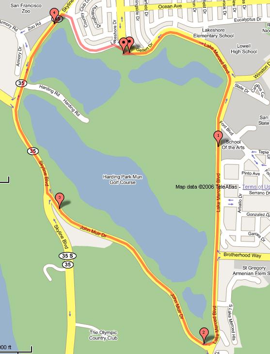 Lake Merced Half Marathon @ San Francisco   California   United States